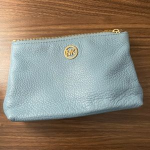 Light blue Michael Kors cosmetic bag